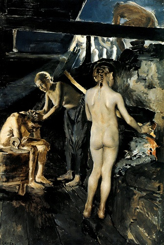 Akseli Gallen-Kallela, (Finnish, 1865-1931) - The Lovers - 1906-17 - Google Search