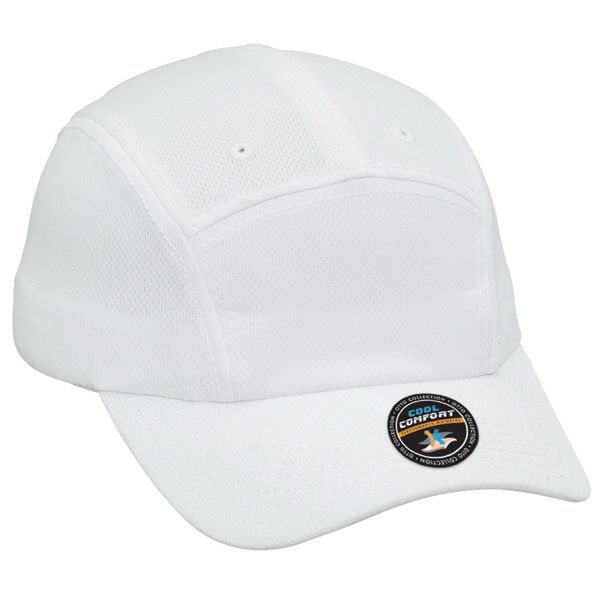 422f84b0202 Five panel running cap...100% polyester cool mesh solid color five panel running  cap. Un…