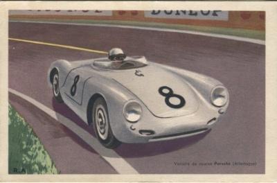 Chocolats Tobler Postcard - Voiture de Course Porsche (Allemagne) Signed RA