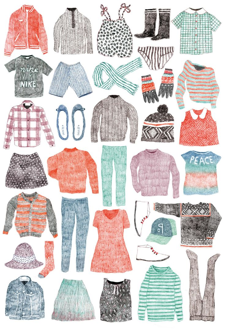 Les 4 commandements de la mode ado ♥ Loved by www.miekinvorm.nl || illustration, handlettering + design