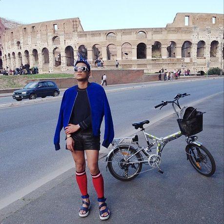 Prada leg warmers as seen on Bryan Boy Instagram