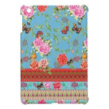 Vintage butterflies and roses iPad mini covers