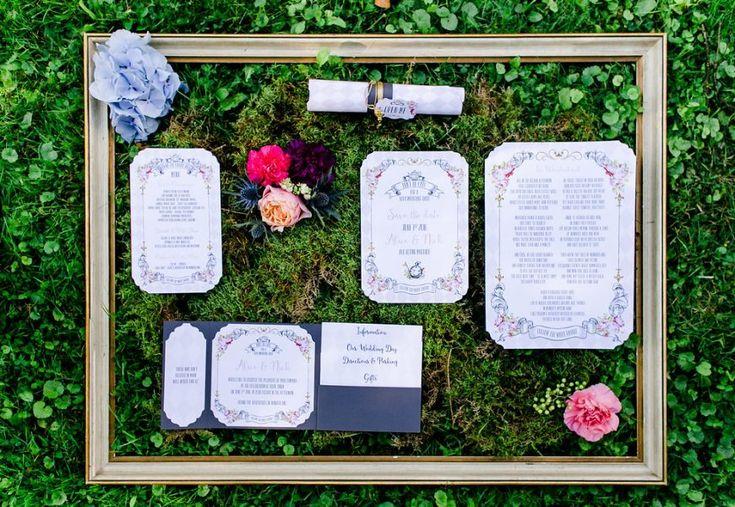 Hochzeitsshooting Hochzeitsthema Alice im Wunderland mit passender Hochzeitspapeterie von feenstaub.at