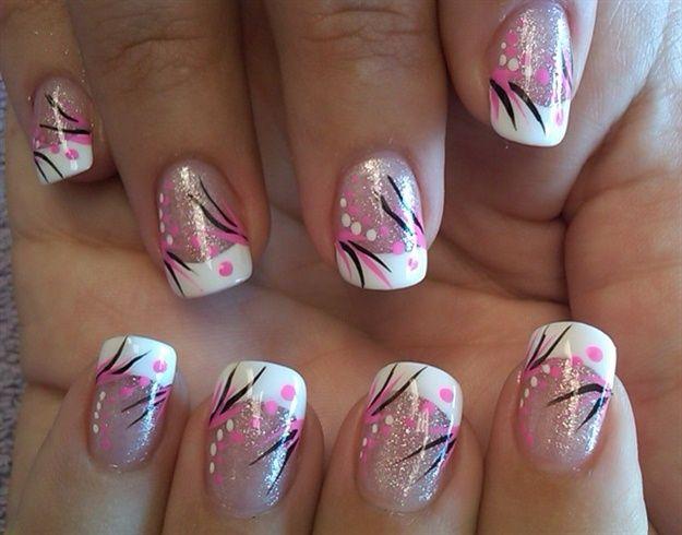french dot burst by aliciarock - Nail Art Gallery nailartgallery.nailsmag.com by Nails Magazine www.nailsmag.com #nailart