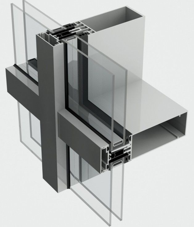 thermally broken the sl52 curtain walling system is a on curtain wall id=77257