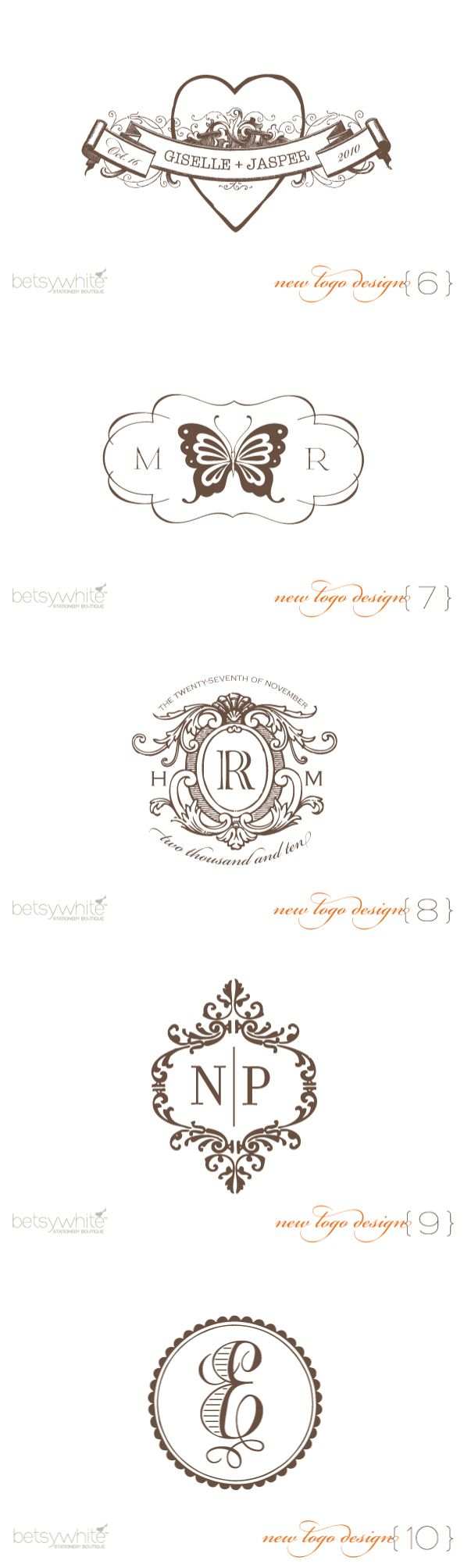 Wedding Logo Giveaway From Betsywhite Stationery Boutique! | Style Me Pretty