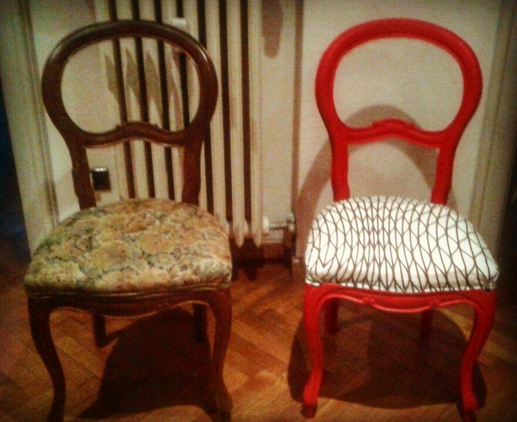 PRIMA→DOPO Le vecchie sedie della nonna? Restaurate  •Be original!