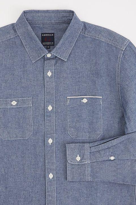Kane Selvedge Chambray Shirt - Goodale - Shirts : JackThreads