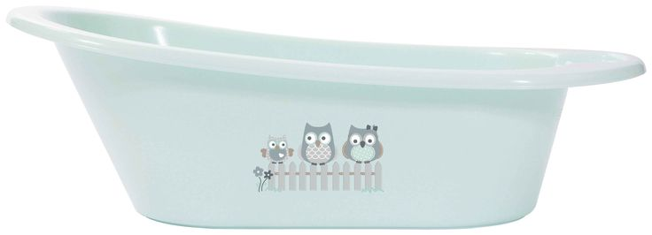 Owl family spacious baby bath bébé-jou mint collection