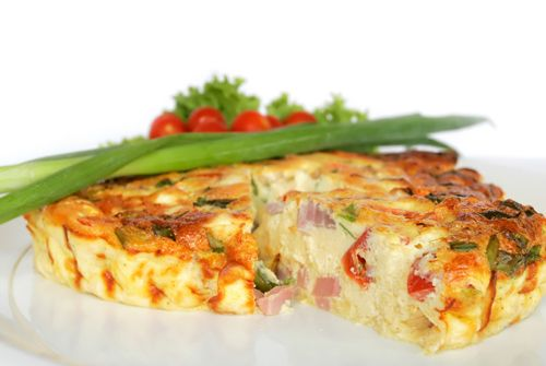 Yummy Cheese and Sausage Frittata: Made with Black Diamond Original Cheese Spread #spreadyourflavour