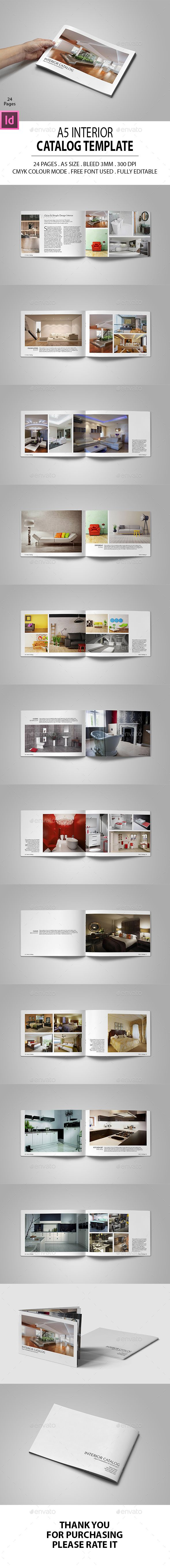 A5 Interior Catalog Template InDesign INDD. Download here: https://graphicriver.net/item/a5-interior-catalog/17600912?ref=ksioks