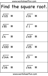 Printables Square Root Worksheets 8th Grade 1000 ideas about square roots on pinterest multiplication worksheetfun com amazing free math worksheets