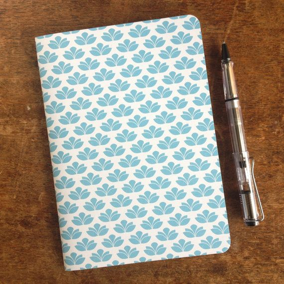 A5 paper journal/notebook featuring a blue by KatieMichelleDesigns