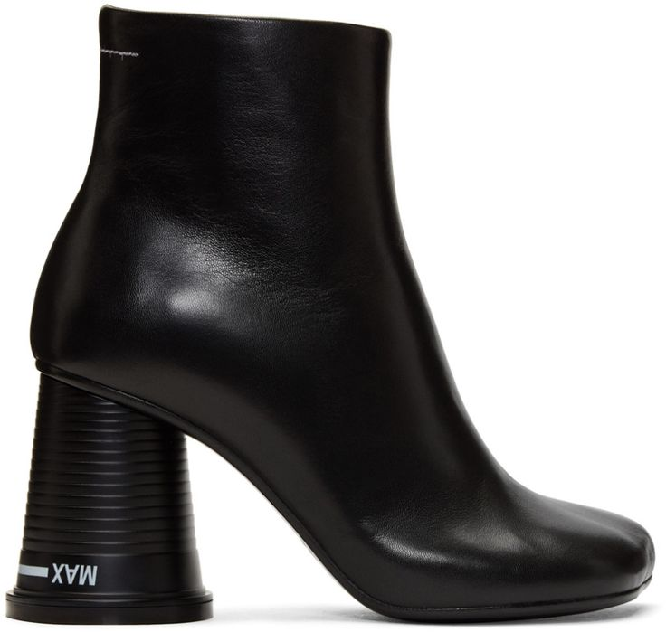 MM6 Maison Martin Margiela Black 'Cup to Go' Ankle Boots