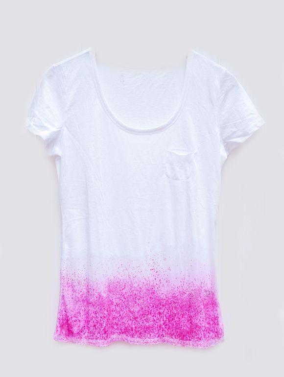 sparkly dip-dye diy