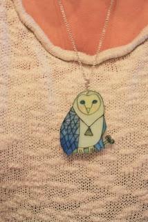 RETRO-pasteller    OWL neacklace