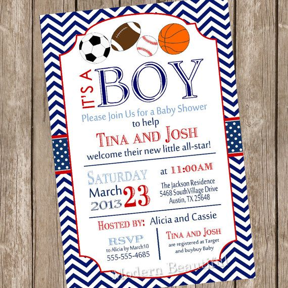 21 best images about all-star baby shower on pinterest | themed, Baby shower invitations