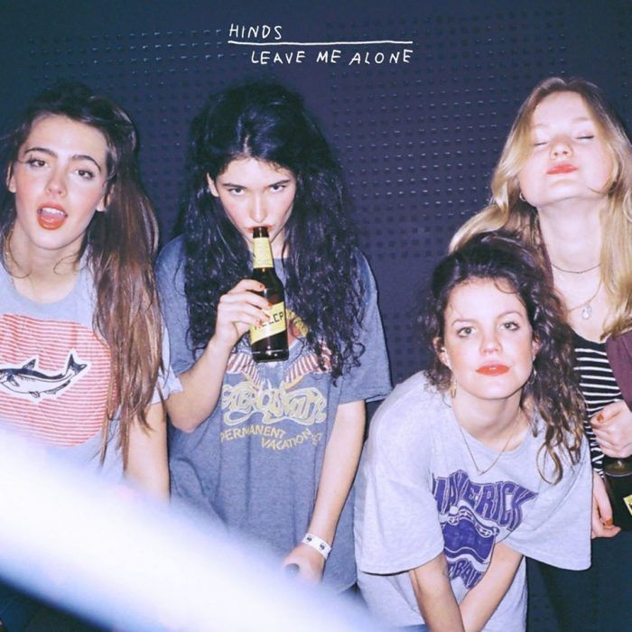 Lo-fi garage rock four-piece Hinds hail from Madrid and this is the band's debut album 'Leave Me Alone'.