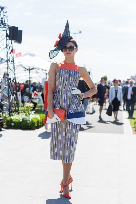 Name: Charlotte Moor Outfit: Millinery and dress Ali Moor, Zara shoes Race day: Melbourne Cup 2015