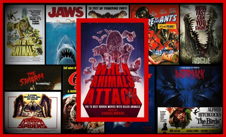 Read The Terror Daves' review on When Animals Attack: The 70 Best Horror Movies with Killer Animals. Includes the terror movies Jaws, The Birds, Day of the Animals, Rogue, Kingdom of the Spiders, The Swarm, The Giant Mantis, Razorback, Grizzly, Cujo, Eight-Legged Freaks, Beaks: The Movie, Monkey Shines, The White Buffalo, The Food of the Gods, Night of the Lepus, Snakes on a Plane, The Last Shark, etc