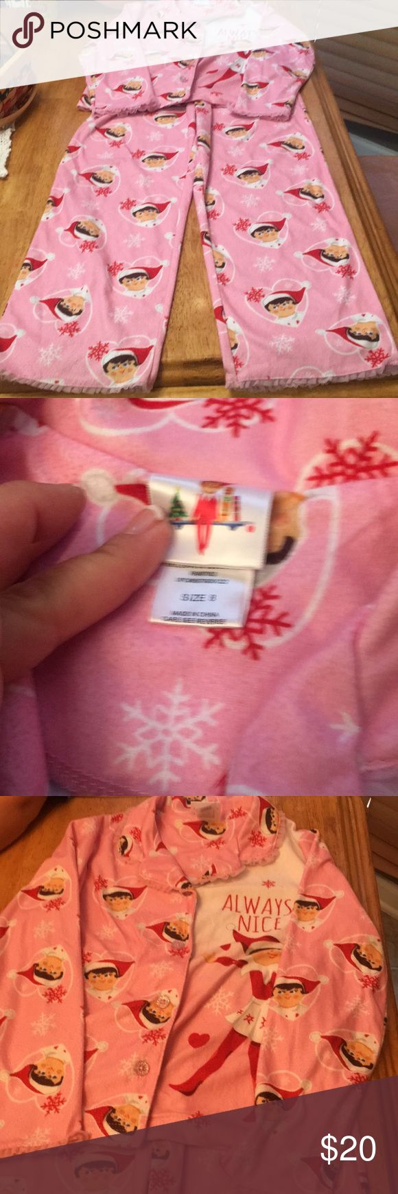 Girls size 8 Elf on the Shelf fleece pajamas Girls size 8 Elf on the Shelf pajamas-EUC-worn only a handful of times during Christmas season!! Immaculate- bought at Kohls this holiday season  Please look at all photos for more details  AND  Please ask any and all questions before purchasing Elf on the Shelf Pajamas Pajama Sets