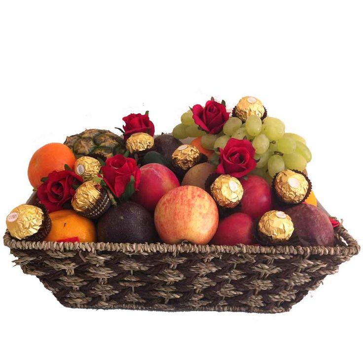 fruit-basket-chocolate-ferrero-red-silk-roses