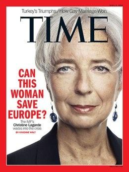 Time : Christine Lagarde cover