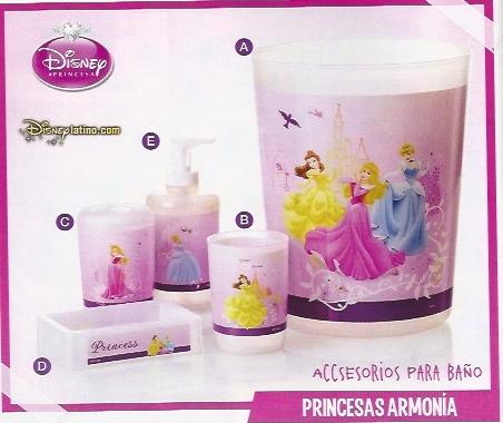 Accesorios de baño princesas JI