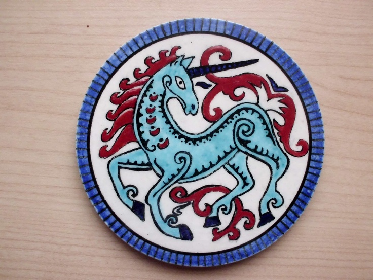 9cm ceramic coaster handmade by Meral