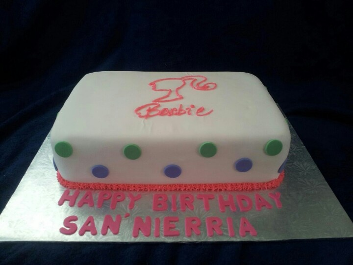 Barbie Sheet Cake