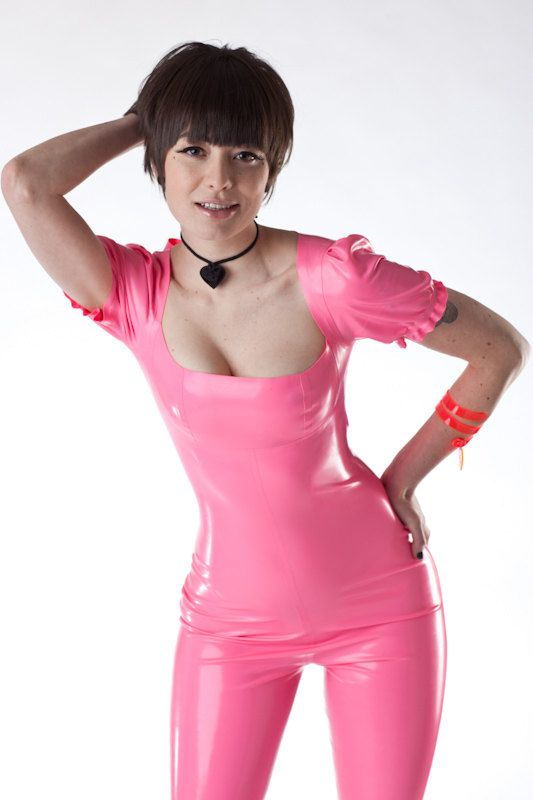 Adala Latex Puff Sleeve Jumper - Bubble Gum Pink -- would be so cute and girly on someone with the right body for this. Love this look.Gum Pink, Adala Latex, Rubber Latex Leather, Bubbles Gum, Latex Clothing, Pink Latex, Latex Fetish, Sleeve Jumpers, Latex Puff