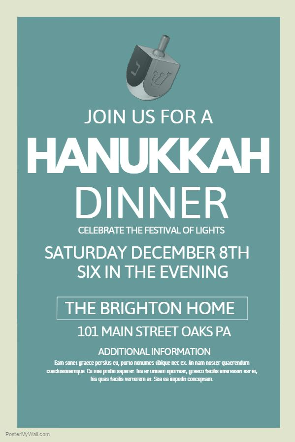 12 best Hanukkah Poster Templates images on Pinterest Poster - poster word template