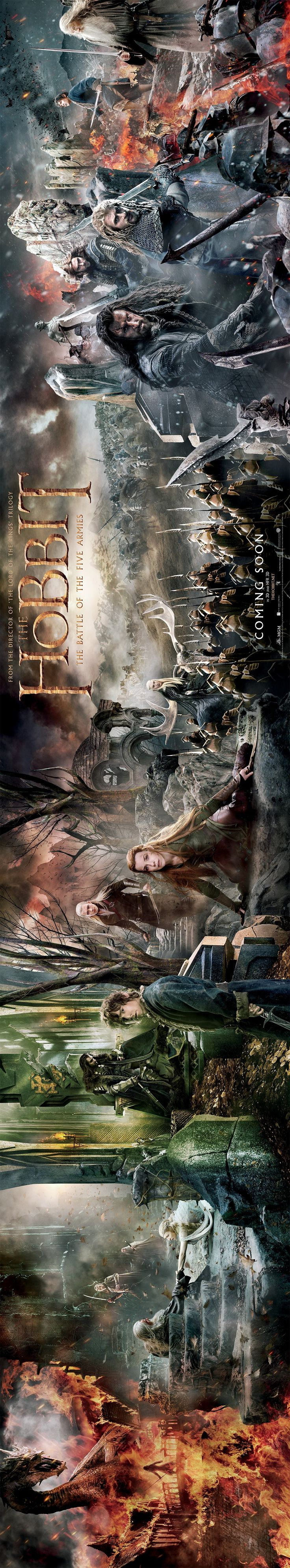 THEY RELEASED A TAPESTRY POSTER FOR BATTLE OF THE FIVE ARMIES AND I CAN'T EVEN IT'SO BEAUTIFUL