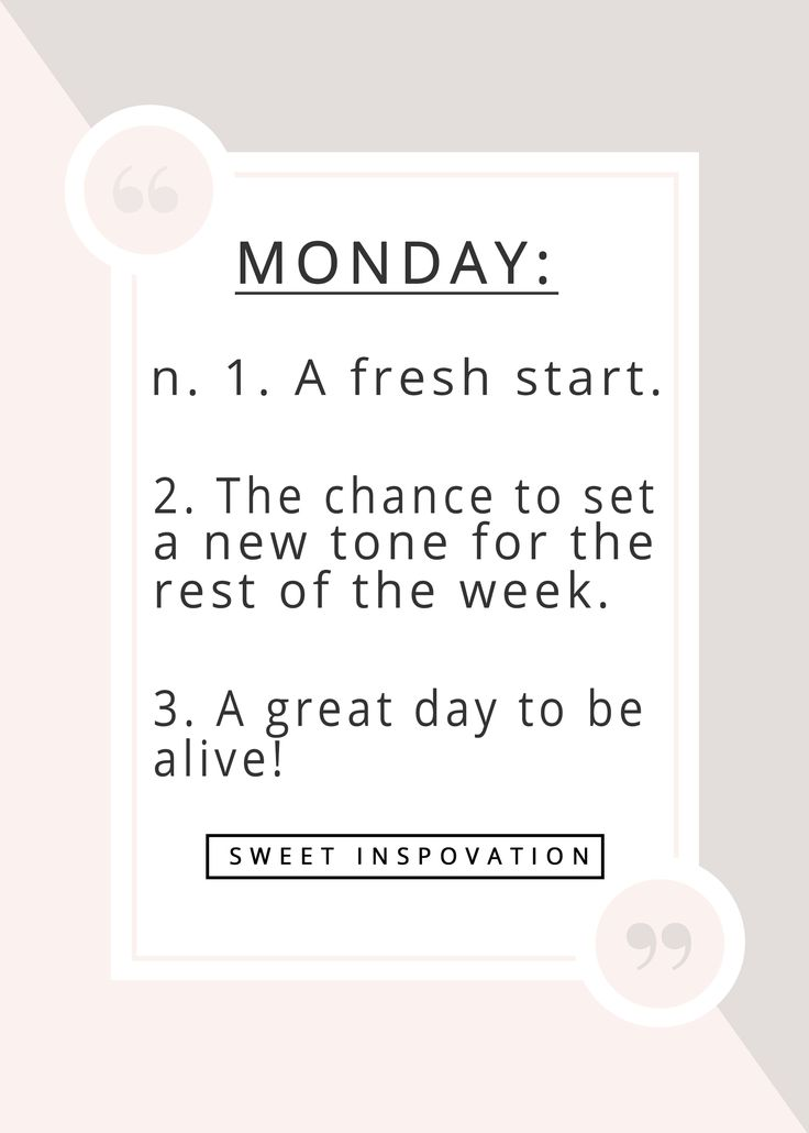 Mondays - reasons to love them! This is the kind of Monday Motivation quote that I needed today!