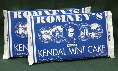 Kendal mint cakes - full of minty carb-filled sugary goodness!  Supposed favorite of hill climbers in the British Lake District.  Even better covered in chocolate!