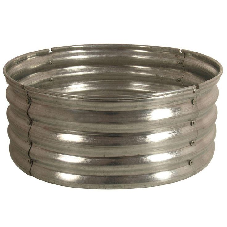 galvanized round fire pit ringds18727 at the home depot - Fire Rings