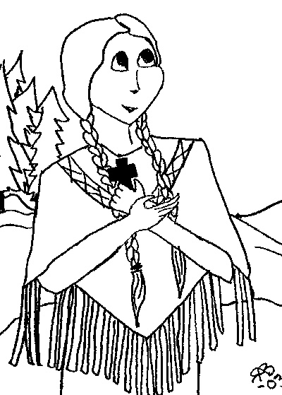 17 best images about saints coloring pages on pinterest for St kateri coloring page