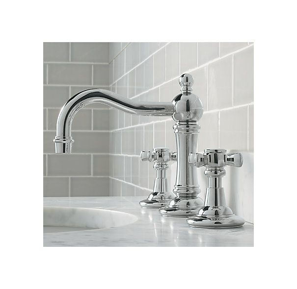 Pictures In Gallery RH us Vintage Cross Handle Widespread Faucet Set Baronial in stature our Vintage Collection celebrates form as well as function