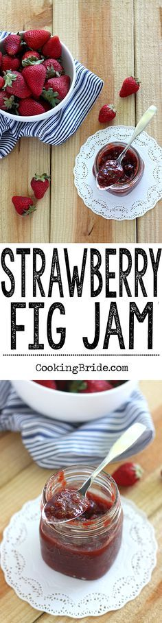 Fresh figs really bring out the flavor in this recipe for simple homemade strawberry and fig jam.