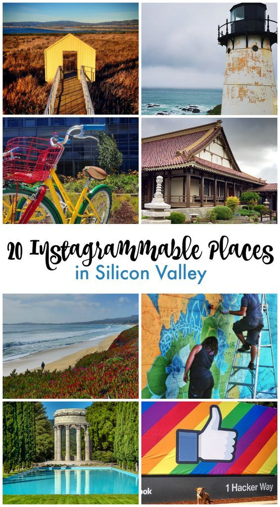 Some of the San Francisco Bay Area's best selfie spots!  20 Instagram-worthy places to photograph on a visit to Silicon Valley, California, USA.