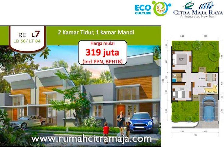 Rumah RE Citra Maja Raya tipe L7. Harga jual perdana dari Rp. 319 jutaan tipe L7. #citramajaraya #rumahcitramaja