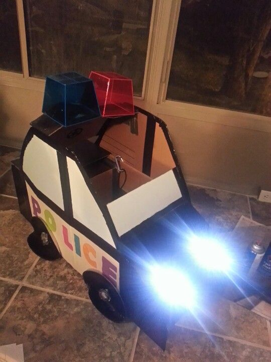 My Baby's Police Car I Made From Cardboard Boxes