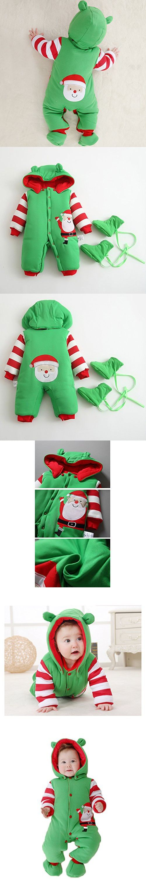 Baby Christmas Rompers Warm Winter Coat Santa Suits Xmas Clothing + Shoes