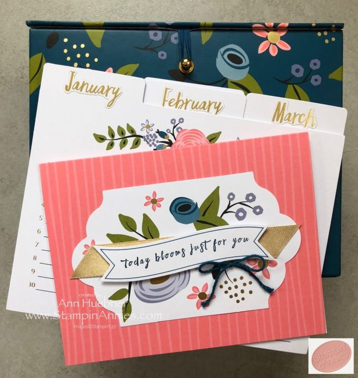 Perennial Birthday Project Kit, Birthday Calendar in a Box from Stampin' Up!
