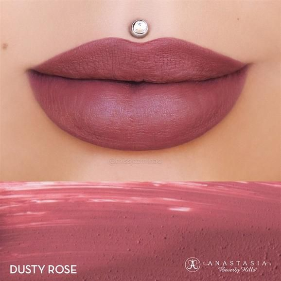 Anastasia Beverly Hills Dusty Rose by @missjazminad I #DustyRose is coming!! Gorgeous, gorgeous. #anastasia #lotd #makeup #beauty #pampadour #lips #abh #dustyroselips