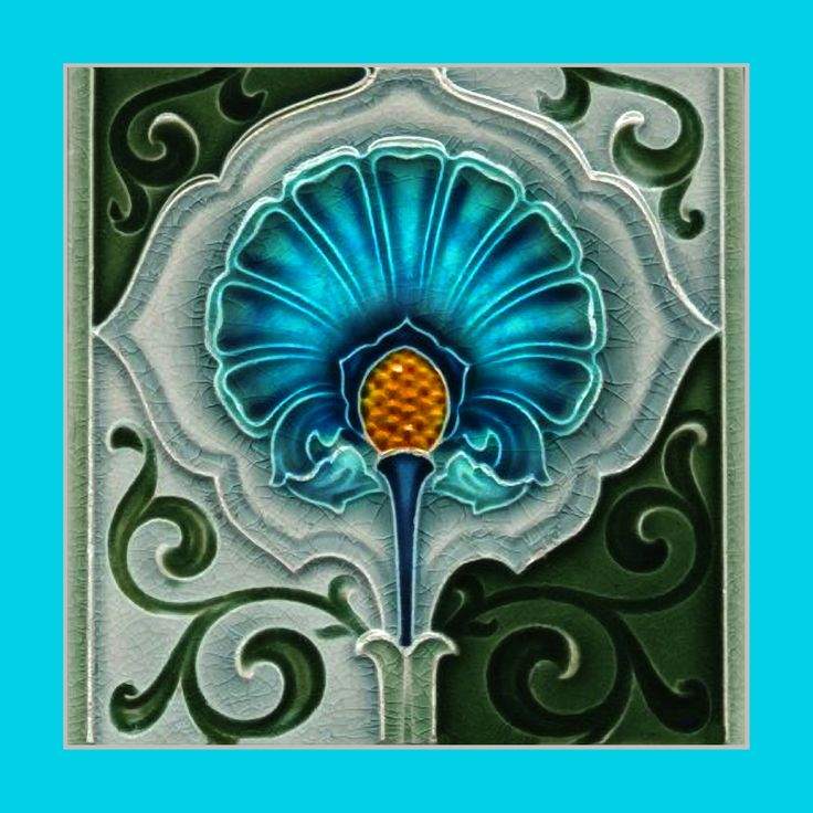 "159 Art Nouveau tile by Meakin. Courtesy of Robert Smith from his book ""Art Nouveau Tiles with Style"". Buy as an e-card with a personalised greeting!"