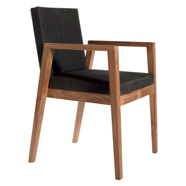 Teak Dining Chair Arms Zoom