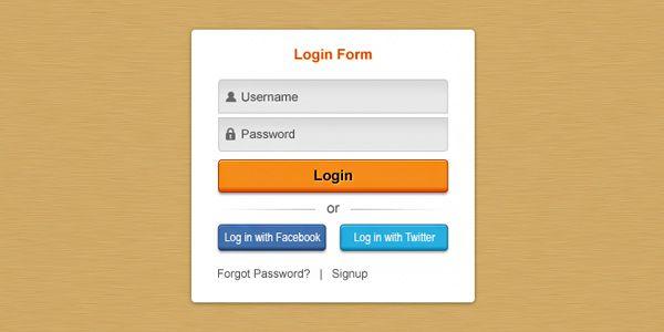 Pretty clean login form (PSD)  http://www.graphicsfuel.com/2011/12/pretty-clean-login-form-psd/