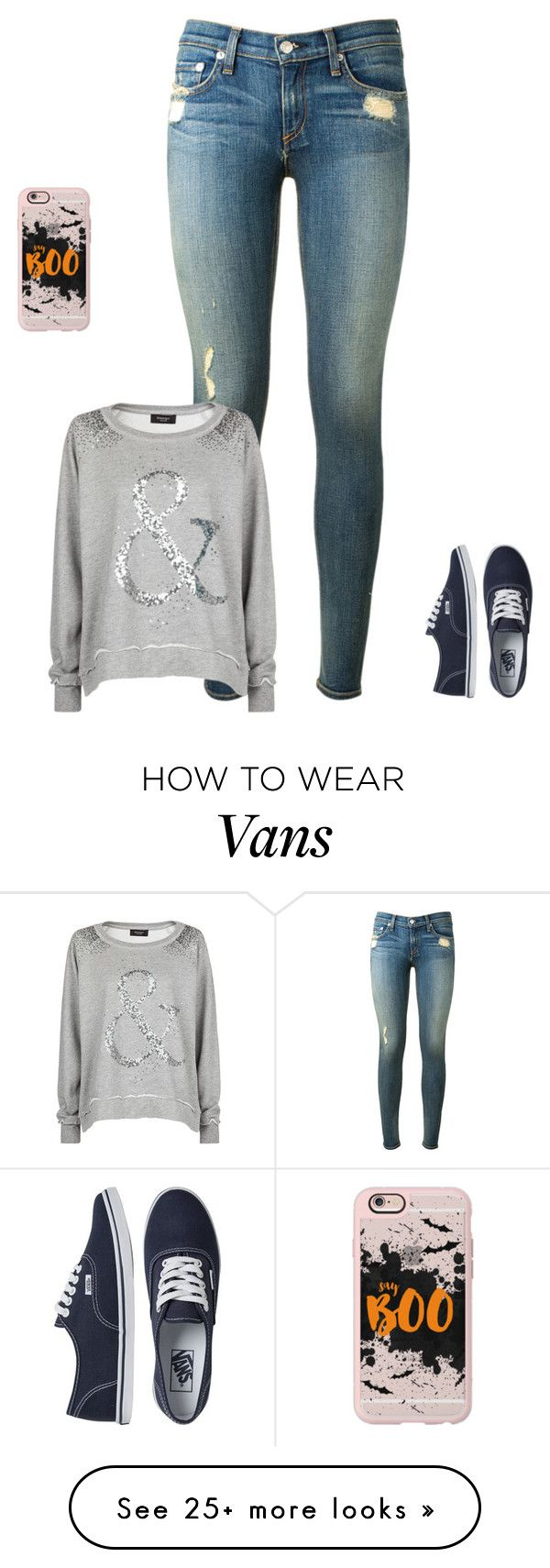 """Sans titre #691"" by harrystylesandliampayne on Polyvore featuring rag & bone, MANGO, Vans and Casetify"