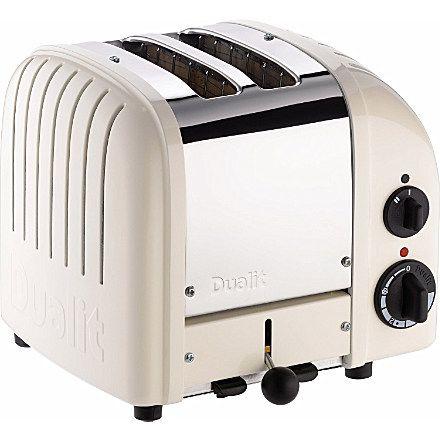 DUALIT Vario two–slice toaster in cream (Canvas white